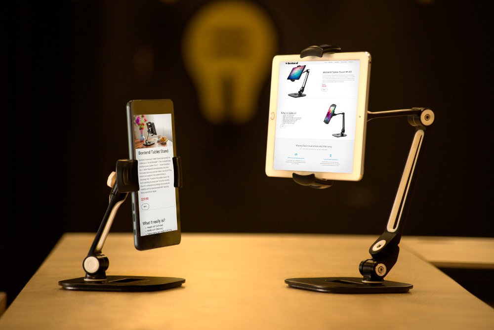 Tablet stand for business